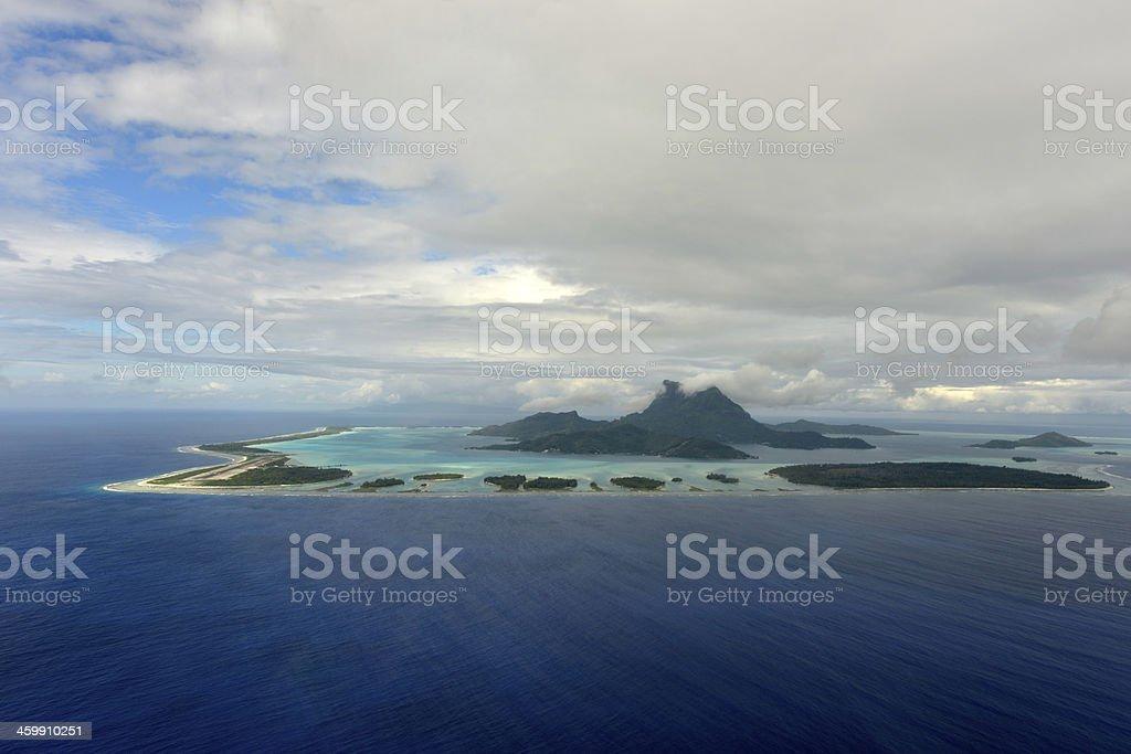 Aerial view on Bora-Bora stock photo