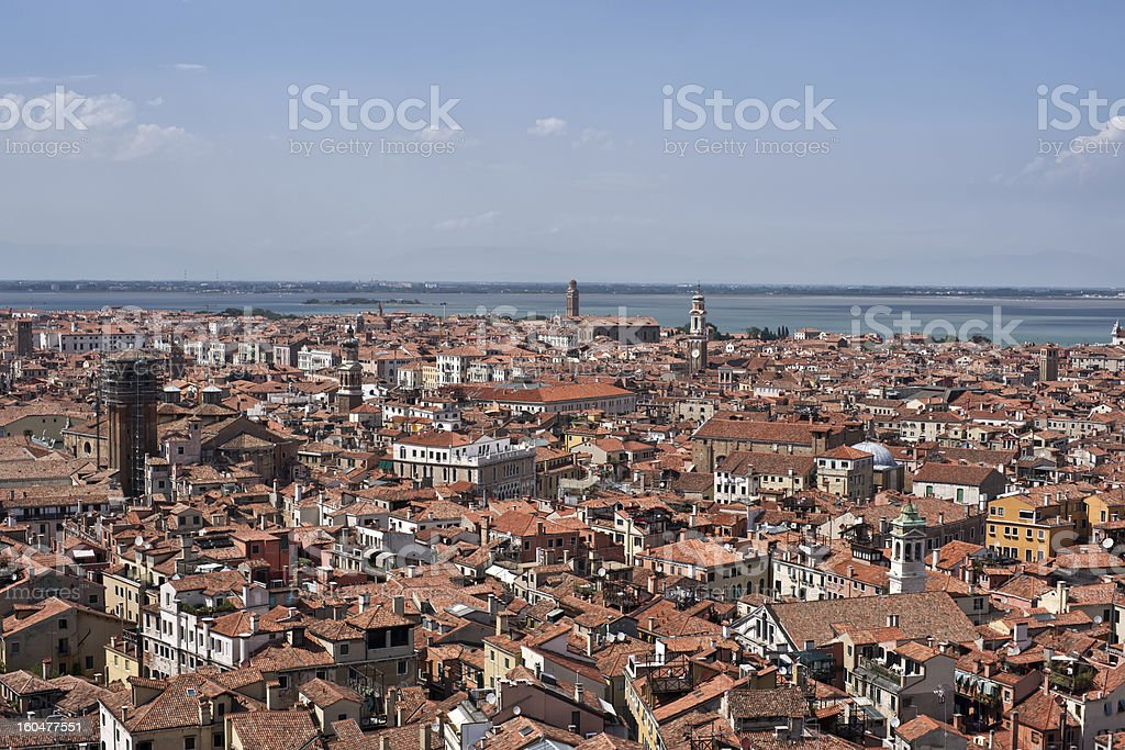 Aerial view on cityscape of Venice royalty-free stock photo