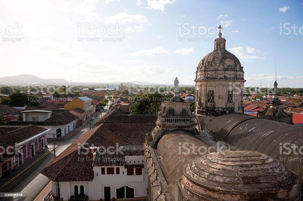 Aerial view on Granada Nicaragua stock photo