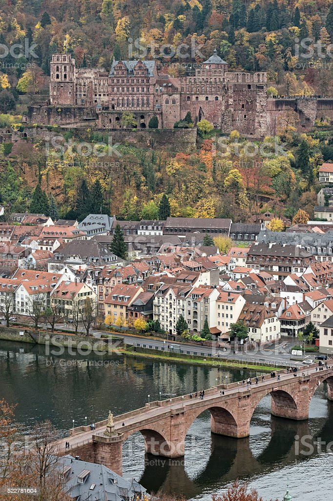 Aerial View on Heidelberg, Germany stock photo