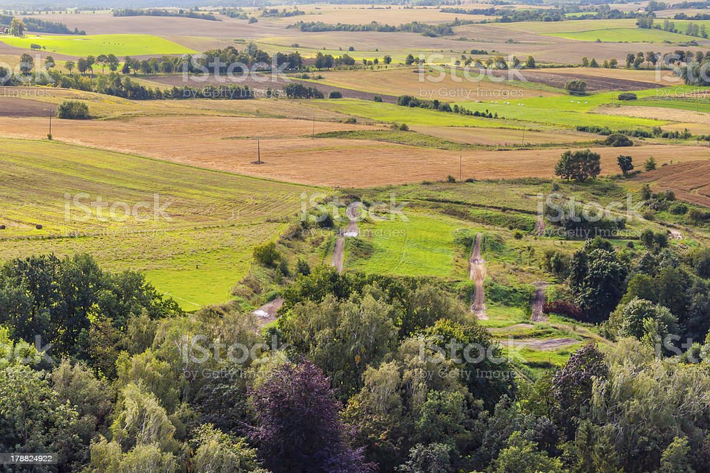 Aerial view on rural stock photo
