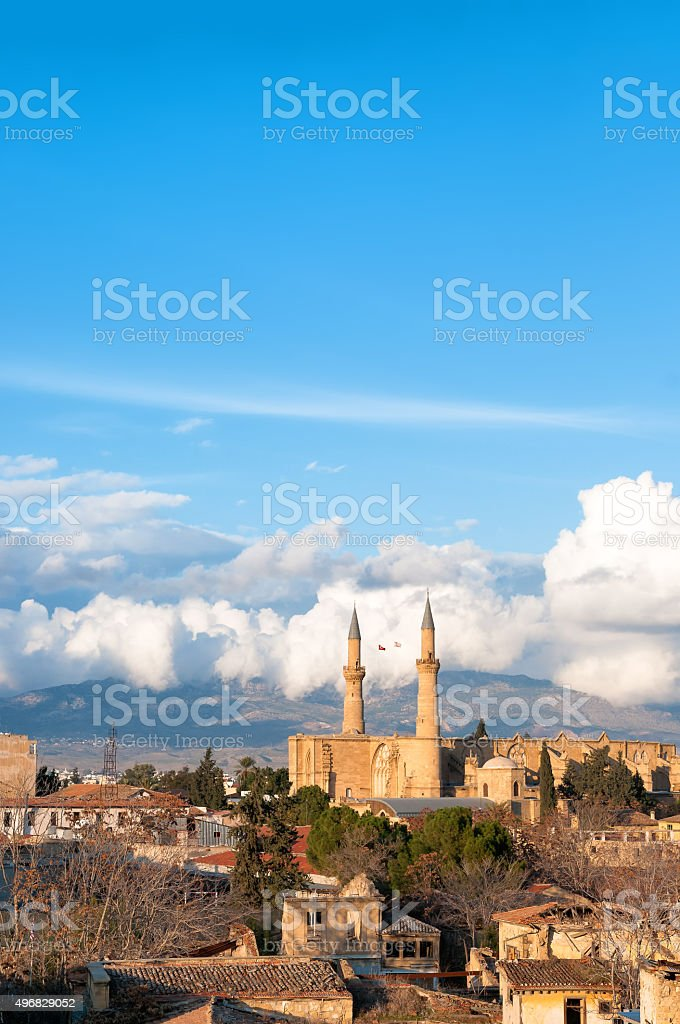 Aerial view on the northern part of Nicosia, Cyprus stock photo