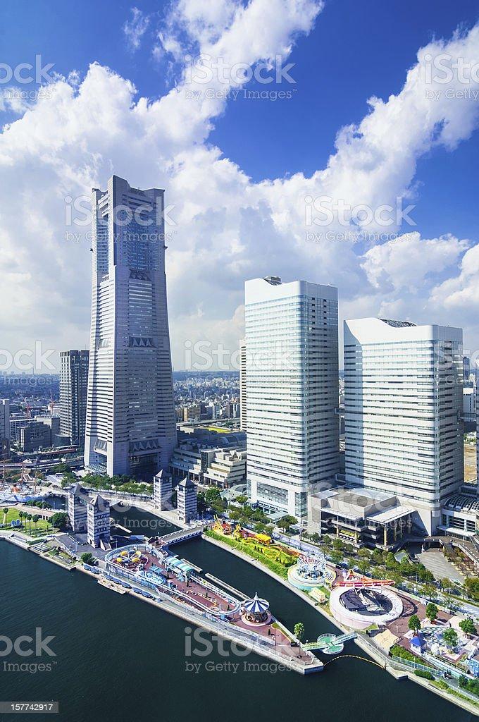 Aerial View on the Yokohama Minato Mirai stock photo