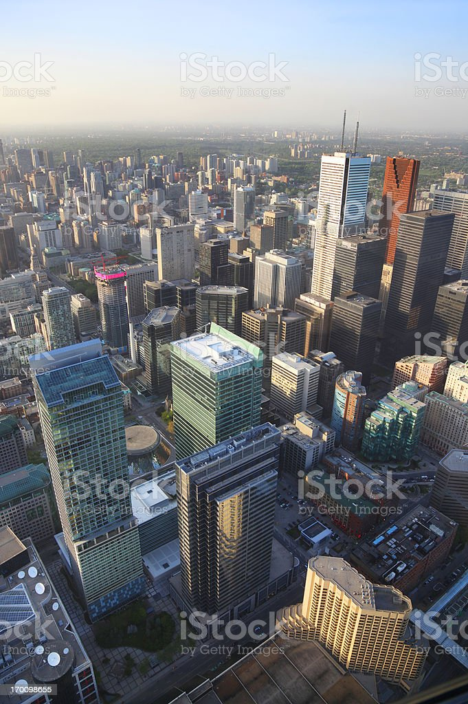Aerial View on Toronto City Buildings royalty-free stock photo