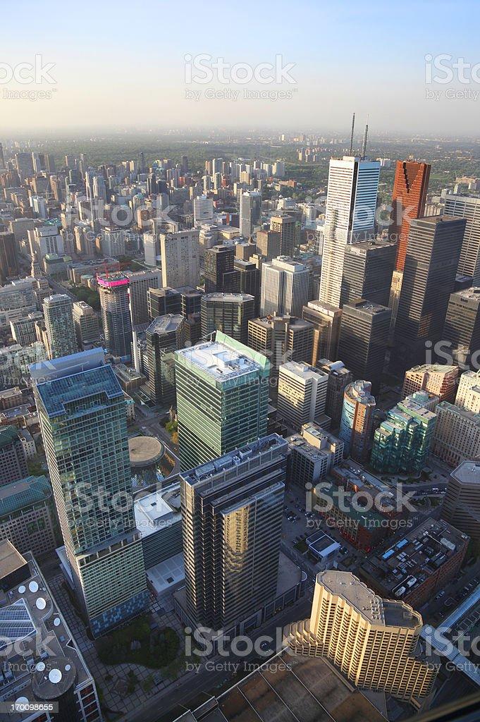 Aerial View on Toronto City Buildings stock photo