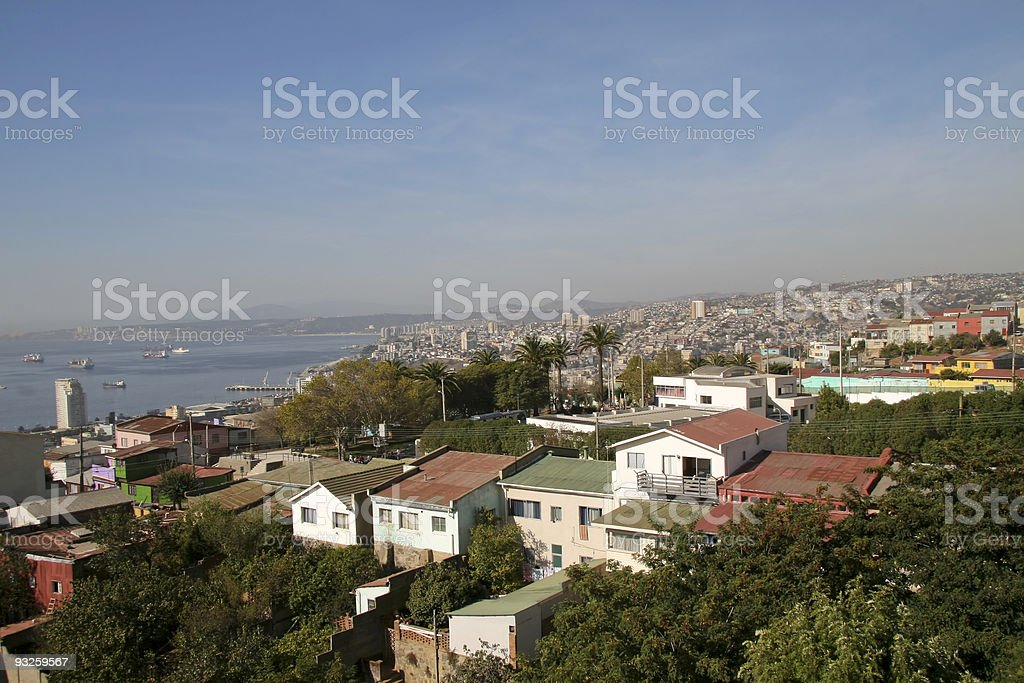 Aerial view on Valparaiso, Chile royalty-free stock photo