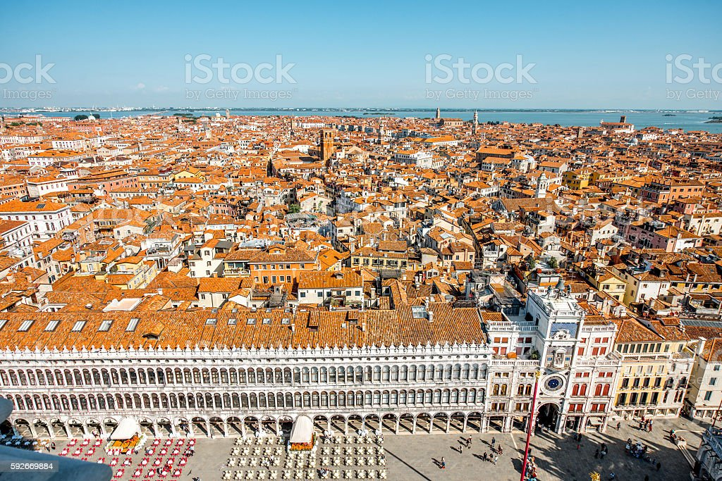 Aerial view on Venice stock photo