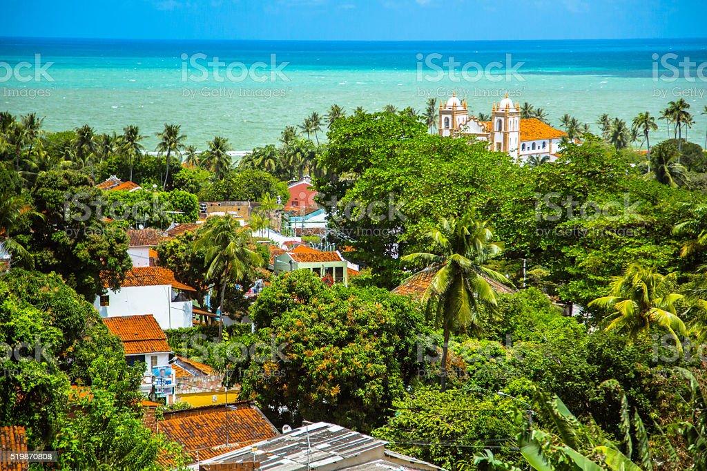 Aerial View over Olinda stock photo