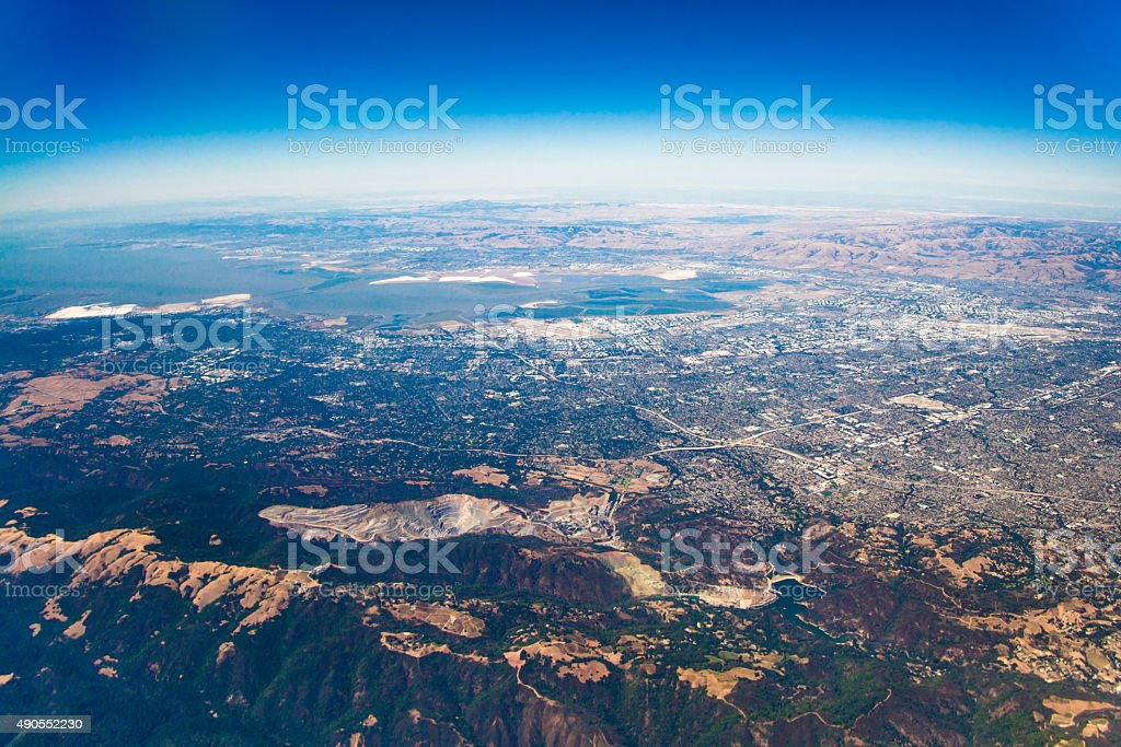 Aerial View over San Jose stock photo