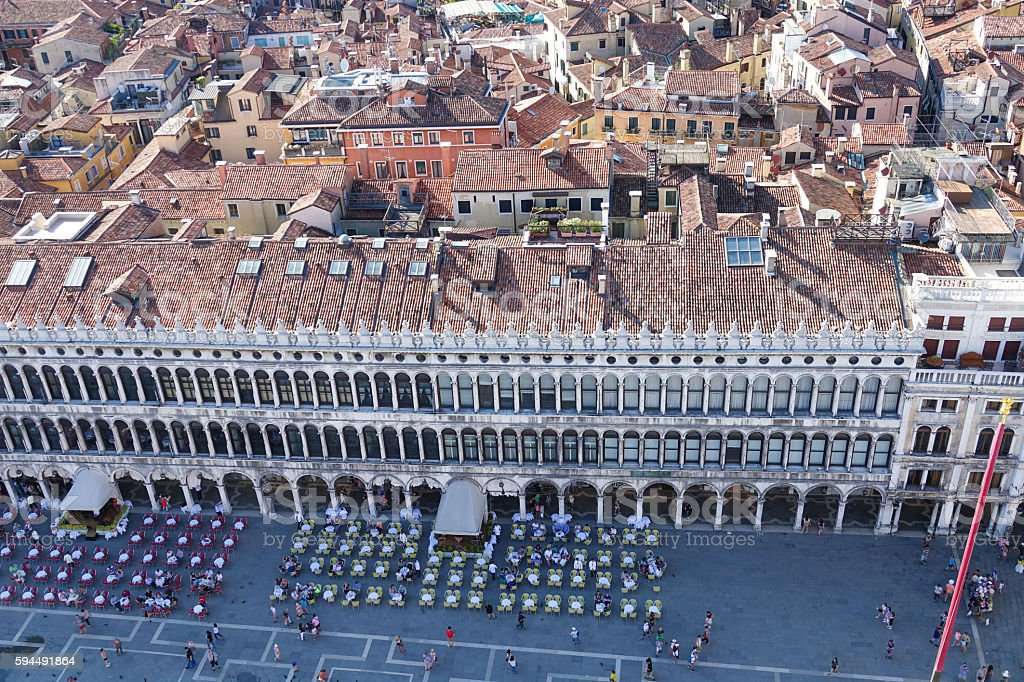 Aerial view over St Mark s Square in Venice - Lizenzfreies stock-foto