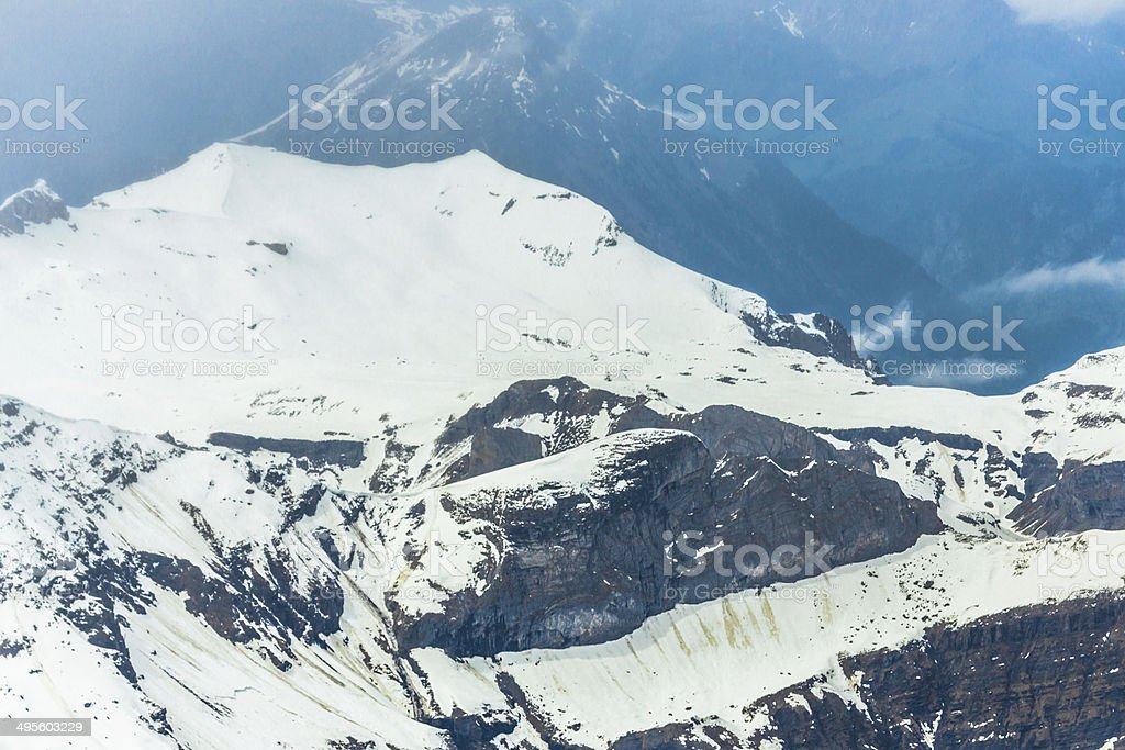 Aerial View Over Swiss Alps royalty-free stock photo