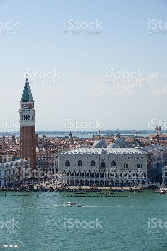 Aerial view over the city of Venice Lizenzfreies stock-foto
