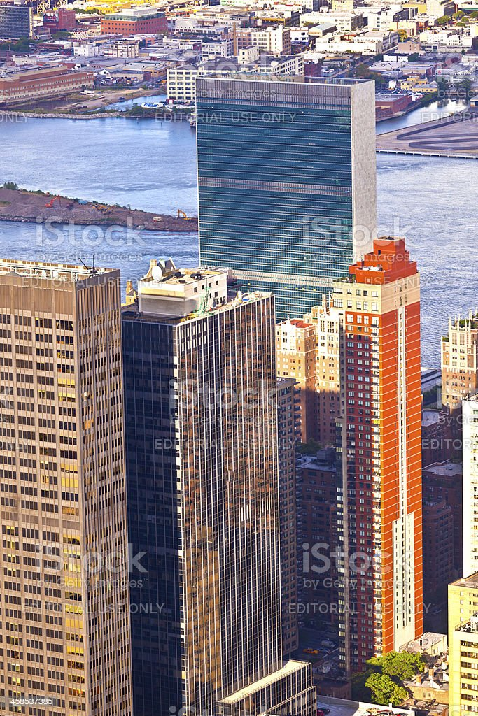 Aerial  view over upper Manhattan from Empire State building top royalty-free stock photo