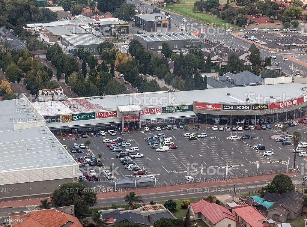 Aerial View; Palms Centre, Boksburg, Gauteng, South Africa stock photo