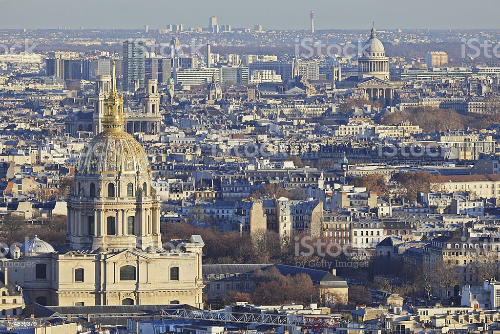 Aerial View - Paris royalty-free stock photo