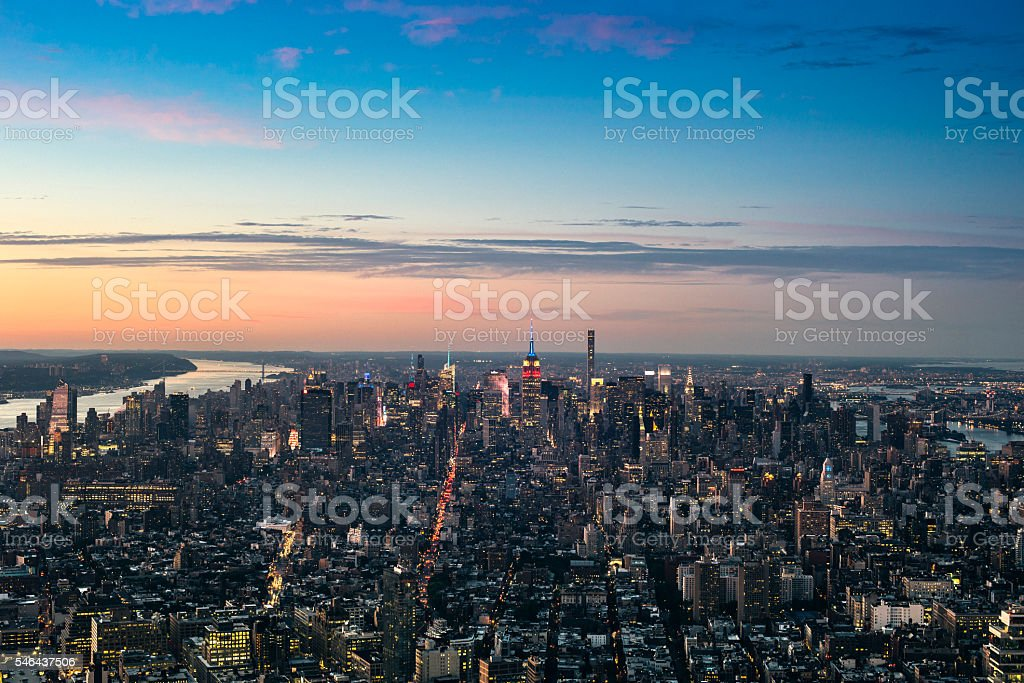 NYC aerial view stock photo
