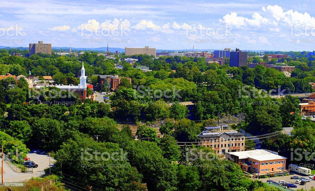 Aerial View Poughkeepsie NY stock photo
