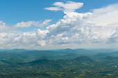 Aerial view rain forest landscape. Hin Koob mountain.