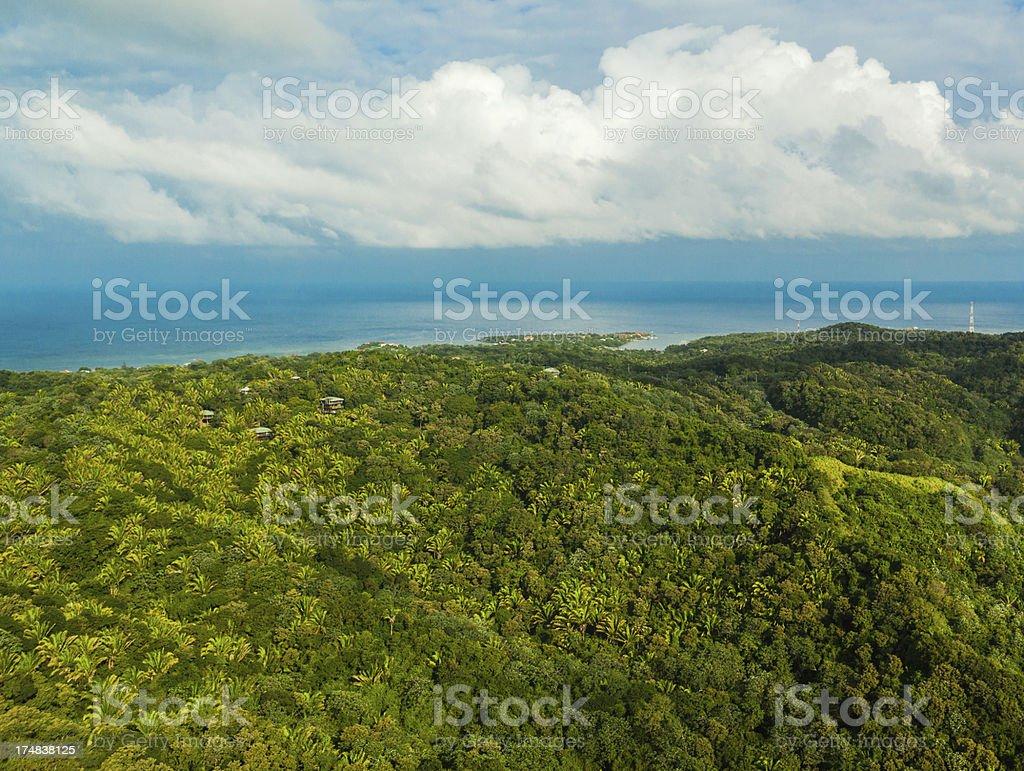 aerial view roatan island royalty-free stock photo