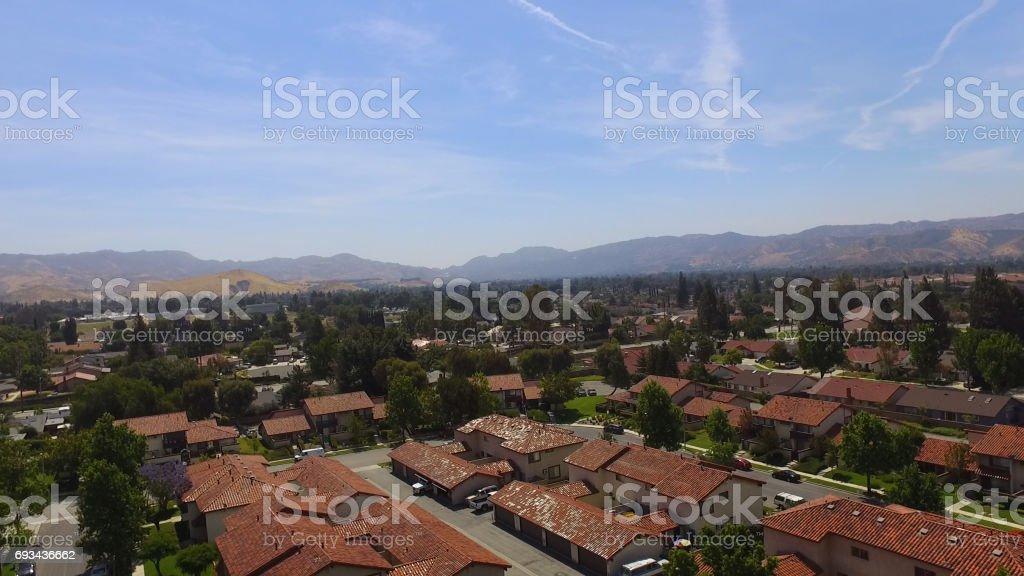 Aerial view Simi Valley California stock photo