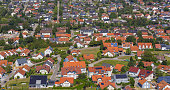 Aerial view small village of Gemmingen in Germany