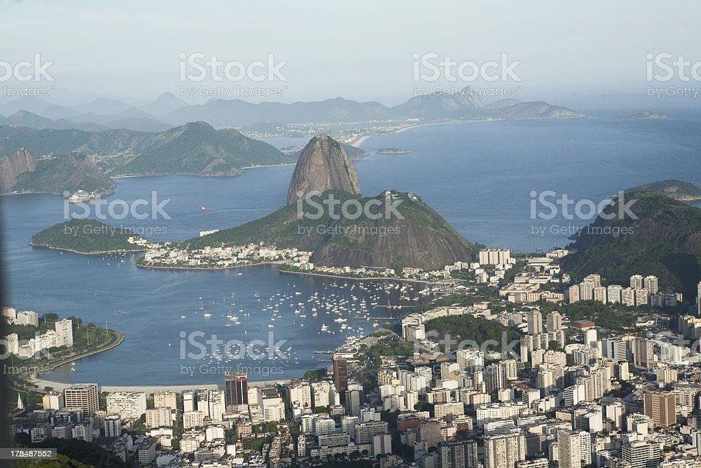 aerial view Sugar Loaf  Rio de Janeiro royalty-free stock photo