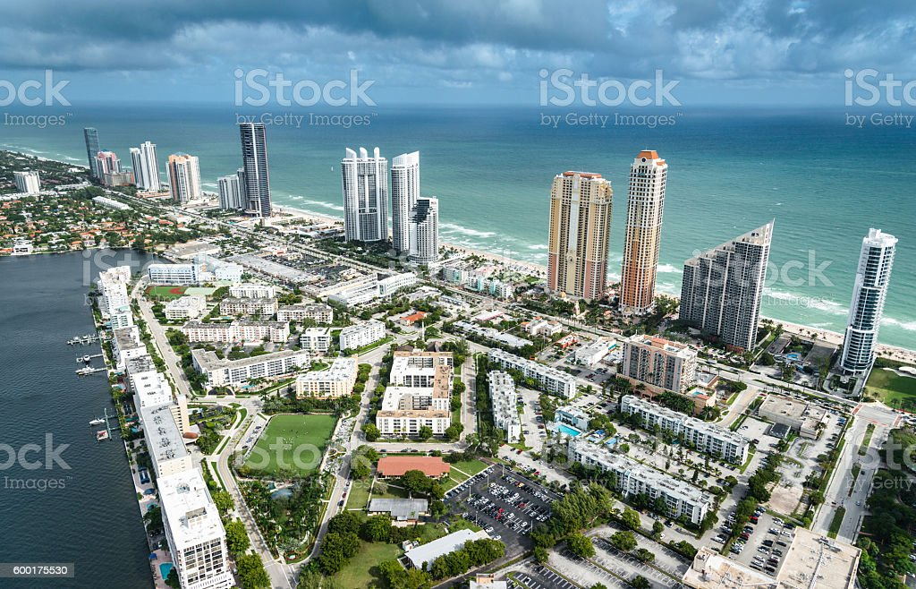 Fort Lauderdale aerial view stock photo