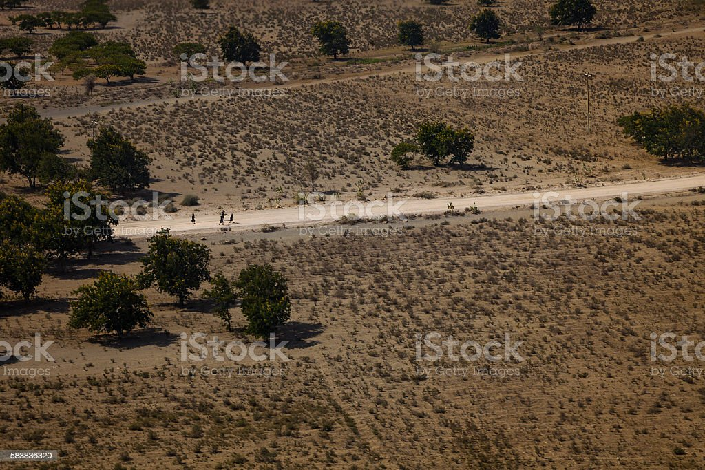 Aerial View Tanzania stock photo