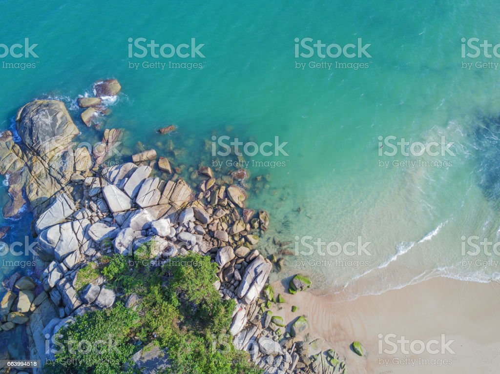 Aerial View: Thong Pan Yai Beach, Koh Phangan stock photo