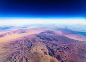Aerial view to California, USA
