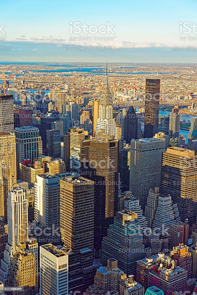 Aerial view to Midtown East stock photo