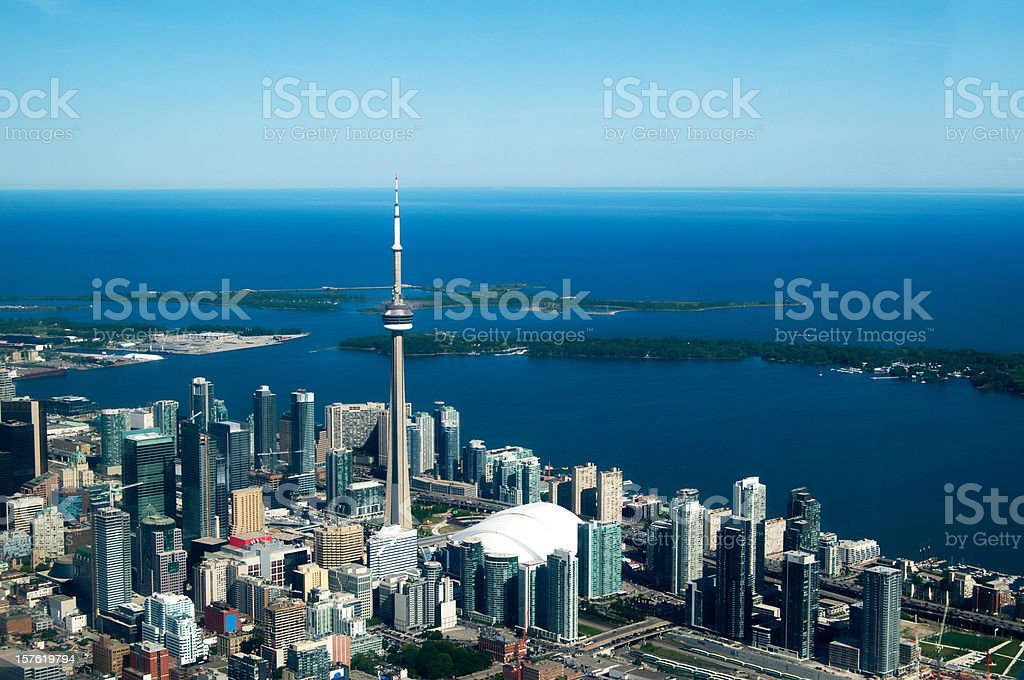 Aerial View Toronto Skyline stock photo