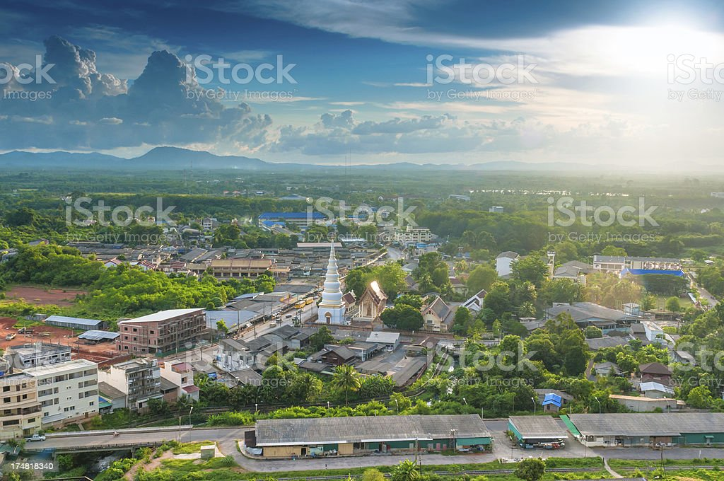 Aerial view urban cityscape in south of Thailand Asia royalty-free stock photo