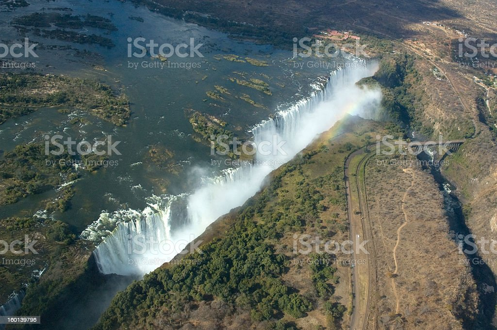 Aerial view Victoria Falls royalty-free stock photo