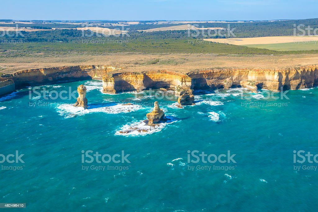 Aerial View Victoria stock photo