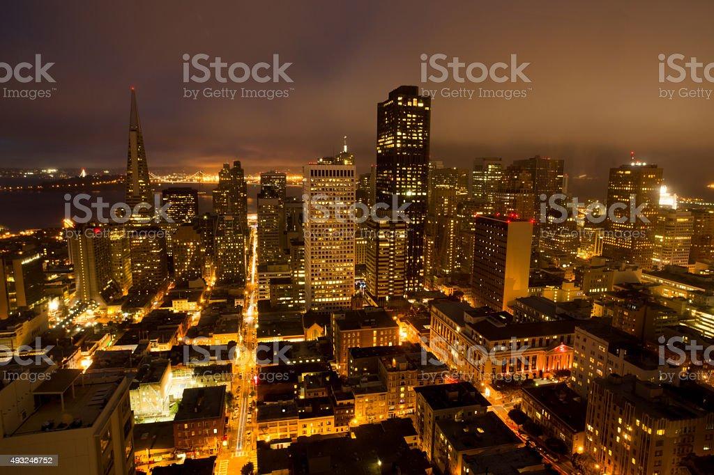 Aerial Views, San Francisco Financial District stock photo