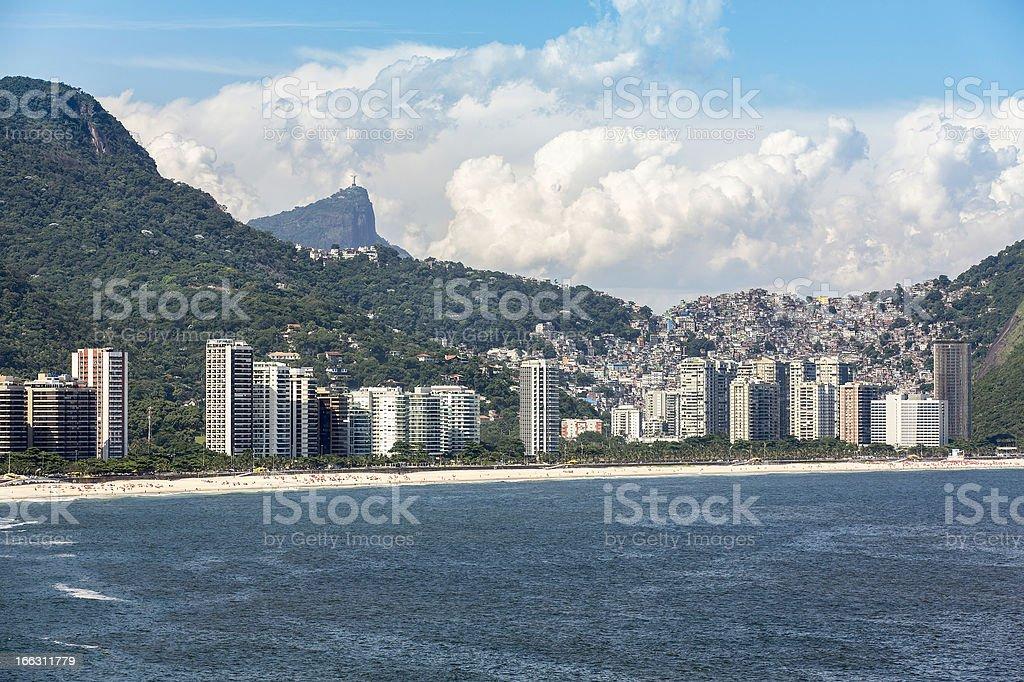Aerial viw of Sao Conrado in Brazil royalty-free stock photo