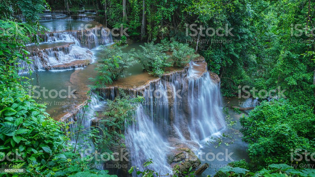 Aerial waterfall stock photo