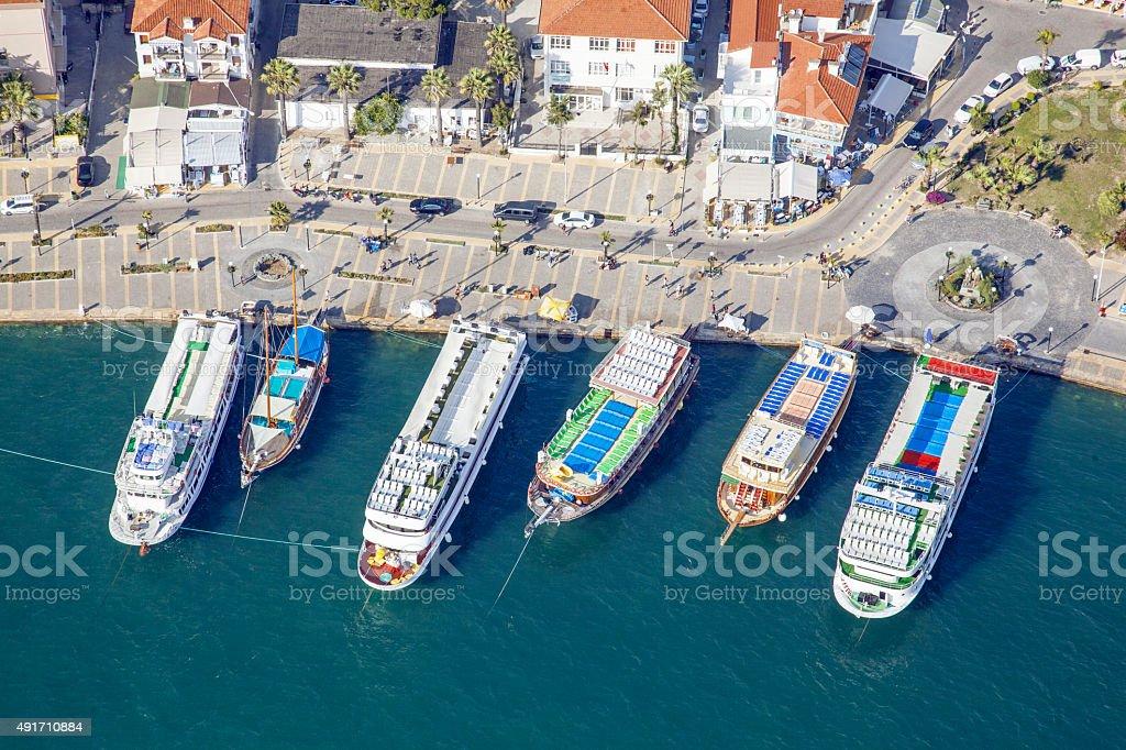 Aerial Yacht Marina stock photo
