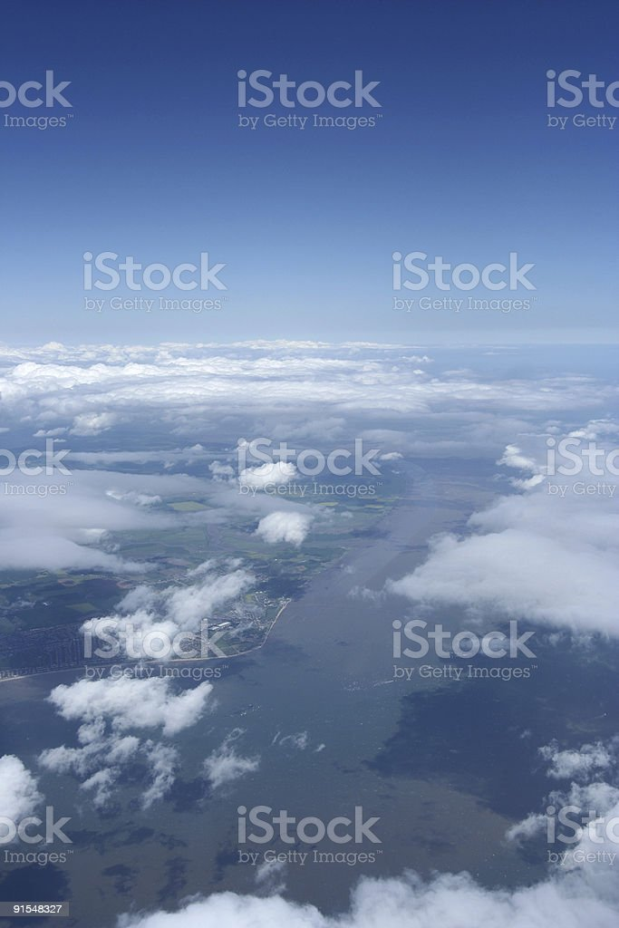 Aeriel view - English Channel royalty-free stock photo