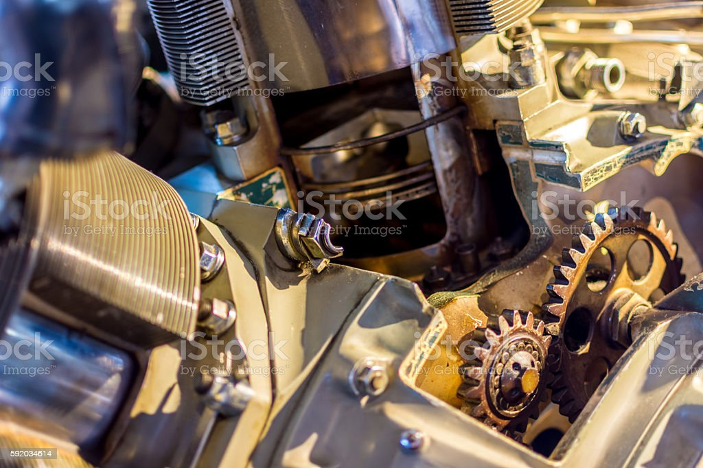 Aero Engine Pistons stock photo