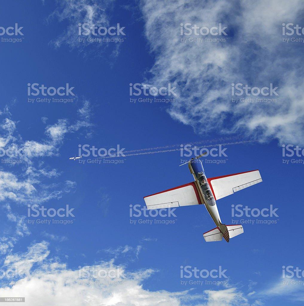 Aerobatic airplane royalty-free stock photo