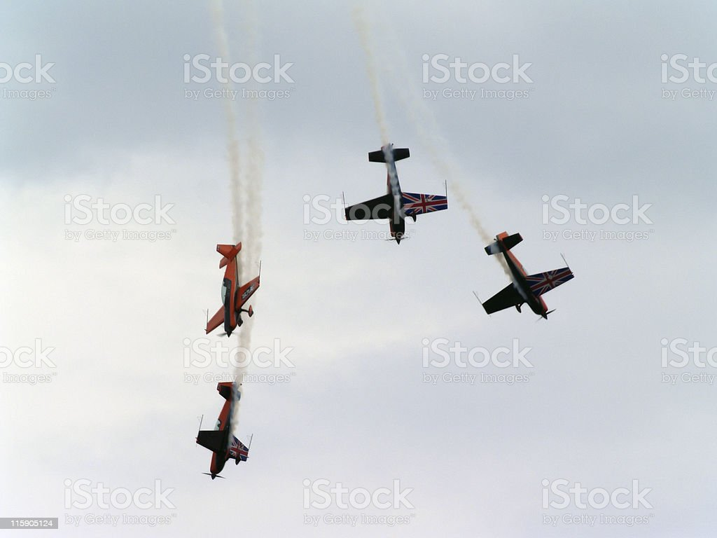 Aerobatic Display Team royalty-free stock photo