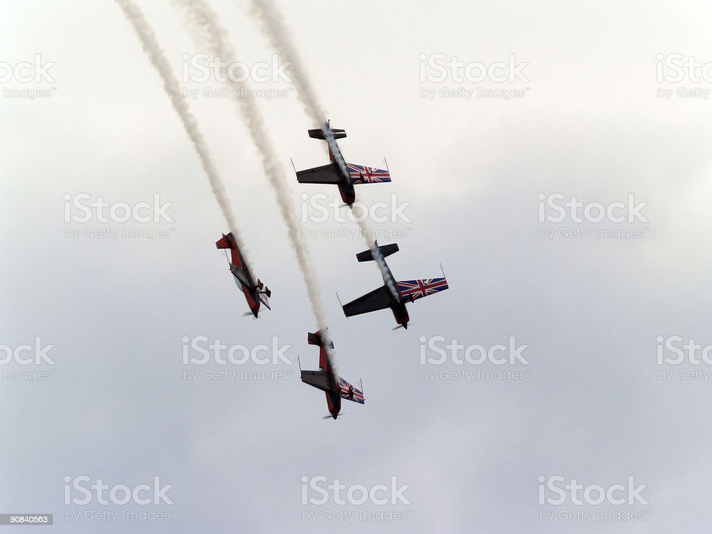Aerobatic Display Team royalty-free stock photo