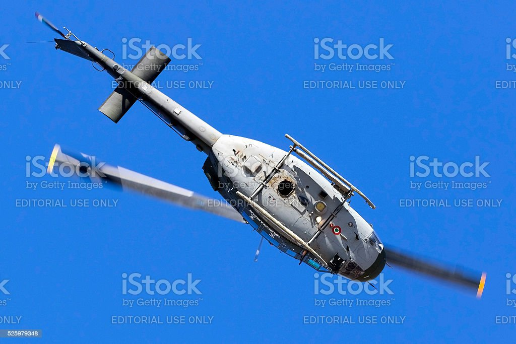 Aerobatic helicopter of the Italian Air Force stock photo