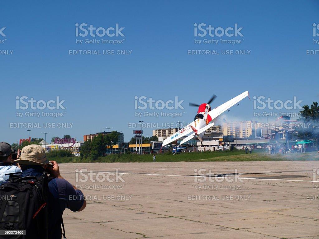 Aerobatic royalty-free stock photo