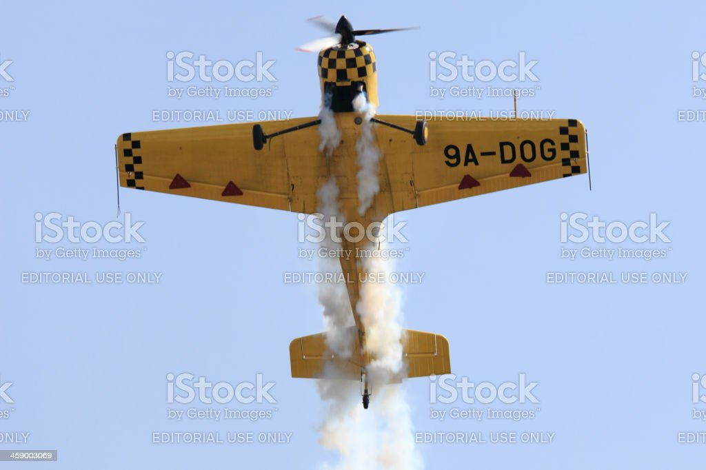 Aerobatic plane in action royalty-free stock photo