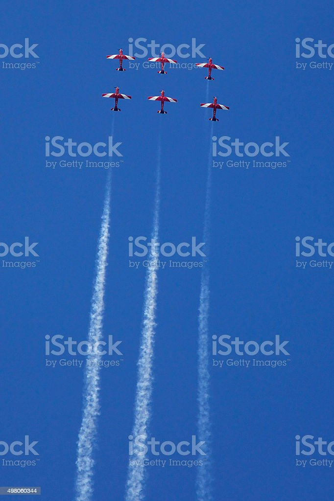 aerobatic planes stock photo