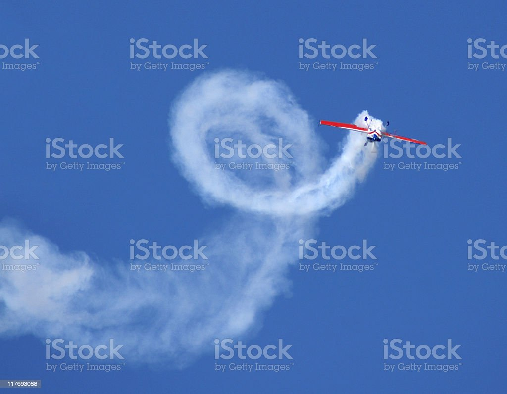aerobatic stunt Extra 300 airplane stock photo