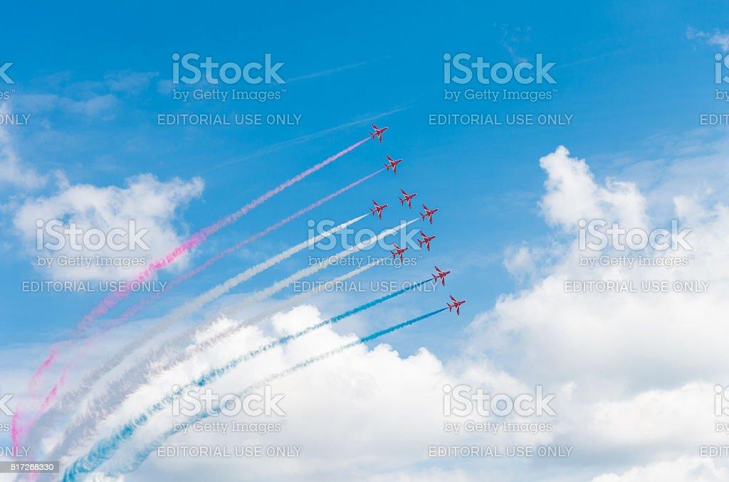 aerobatic team in action stock photo